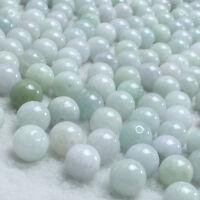 5/50Pcs Natural Round Burma Jade Gemstone Loose Beads 6mm Crafts Jewelry Making