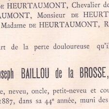 Hector Amédée Joseph Baillou De La Brosse Marson 1887