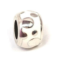 Authentic Brighton Dot to Dot Bead, J96493 Silver, Enamel, New
