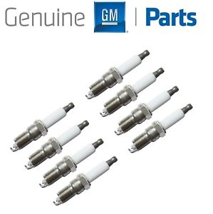 For GMC Envoy XUV Savana Yukon XL Sierra V8 Set of 8 Spark Plug GM Genuine OEM