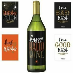 Wicked Bottle Labels - Halloween wine labels