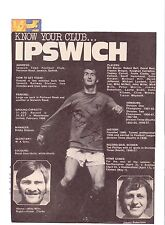 FRANK CLARKE IPSWICH TOWN 1969-1973 ORIGINAL HAND SIGNED PICTURE CUTTING
