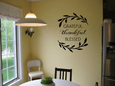 GRATEFUL THANKFUL BLESSED WALL ART STICKER VINYL DECAL FARMHOUSE LETTERING QUOTE
