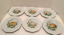 """Lierre Sauvage CNP France Set of 6 Fromage Cheese Plates 8"""""""