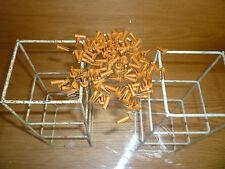 """100 Vintage Bifurcated Split Rivets 1/2""""/ 14 mm  length Golden Brown UK made"""