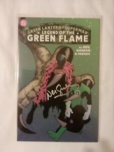 GREEN LANTERN SUPERMAN LEGEND OF THE GREEN FLAME NM, Neil Gaiman SIGNED