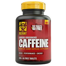 PVL Mutant Core 200mg High Quality Caffeine 240 Tablets Pills Extra Energy