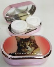 Rachael Hale Mirror Case Contact Lens Soaking Storage Case UK MADE - Cat In Red