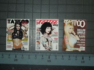 1/6 Scale Tattoo Magazines - set of 3 Issues for Action figures