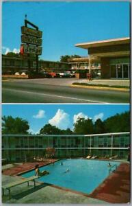 Hot Springs, Arkansas Postcard AVANELLE MOTOR LODGE / Girl on Pool Diving Board