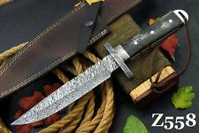 Custom Damascus Steel Hunting Knife Handmade With Camel Bone Handle (Z558)