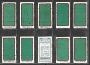 """WILLS 1909 INTERESTING ( SPORTS ) FULL 50 CARD SET  """"""""  BILLIARDS  """""""""""
