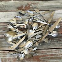 SilverPlate Flatware Mixed Lot 4# 6oz Various Makers & Conditions Craft G72