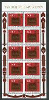 Bund KB 1023 sauber postfrisch Kleinbogen 10 x BRD Tag der Briefmarke 1979 MNH