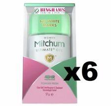 6 X Mitchum Women Ultimate Gel deodorant  POWDER FRESH    **UK STOCK**