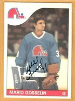 1985-86 O-Pee-Chee #18 Mario Gosselin RC | Auto | Quebec Nordiques