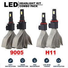 9005 H11 LED 160W 12800LM Headlight Fanless Bulbs Kit High Power 6000K White