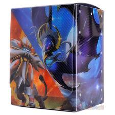 Carte à Collectionner Deck Box Pokemon Solgaleo Lunala Boîte de Rangement Coréen