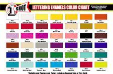 1-Shot Enamel Pinstriping Lettering Paint 4oz Choose Your Color