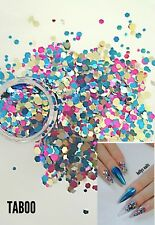 Nail glitter 5g TABOO For acrylic or gel holographic  multicut glitter