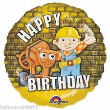 "18"" Bob the Builder Happy Birthday Round Foil Balloon"
