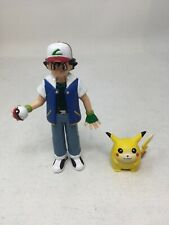 VINTAGE POKEMON  ASH  Ketchum 1998 and pikachu  TOMY Nintendo Toy Figure