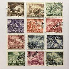 Gestempelte Briefmarken aus dem deutschen Reich (1933-1945) mit Geschichts-Motiv