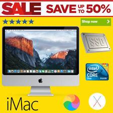 "Apple iMac 4.80GHz 4GB RAM Core 2 Duo 20"" 2008 Faster 128GB SSD Free Office 2011"
