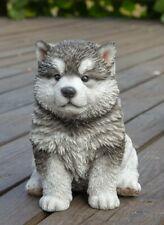 New ListingMalamute Dog Figurine Statue Resin Ornament New 6.5 inches Puppy