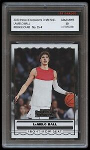 LAMELO BALL 2020 PANINI CONTENDERS 1ST GRADED 10 ROOKIE CARD CHARLOTTE HORNETS