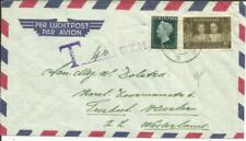 Suriname Sc#224,#B64(semi-postal) PARAMARIBO 8/XI/55 Airmail POSTAGE DUE to