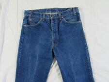 Vtg 80s Levi 505 USA Made Straight Leg Faded Denim Jeans Tag 35x34 Measure 34x33