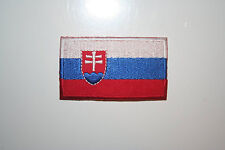 SLOVAKIA COUNTRY FLAG IRON-ON PATCH CREST BADGE 1.5 X 2.5 INCH