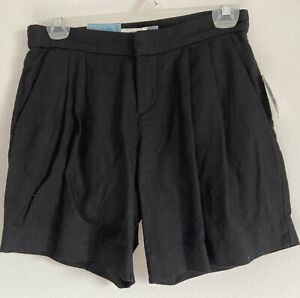 Old Navy Womens Black Pleated Front Short. Size 0