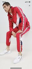 Ellesse Red Shell Suit Tracksuit Medium Red