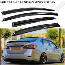 Fit For Nissan Sentra Sedan 2013-2018 Jdm Style Window Visors Sun/Rain Guard Us (Fits: Nissan)