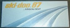 VINTAGE FRENCH 1987 SKI-DOO SNOWMOBILE SALES BROCHURE 16 PAGES  (875)