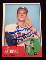 TOM SATRIANO 1963 TOPPS Autographed Signed AUTO Baseball Card 548 ANGELS