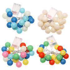 UN3F Battery 20PCS christmas lights garland string lights cotton ball light