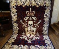Knights Templar Area Rug Tapestry Skull Masonic Knight Sword Ring by UNIQABLE