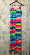 Lilly Pulitzer maxi dress S colorful striped rayon sleeveless
