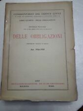 Commentario del Codice Civile libro quarto delle Obbligazioni Art.1936-1959 1957