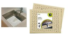 Rubber Sink Dish Mat Drainer Non Slip Protector Liner Anti Slip Kitchen 2Pack