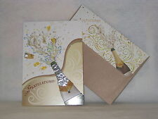 Burgoyne Handmade Pop The Cork Congratulations Greeting Card - NEW