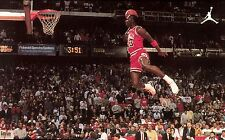 MICHAEL JORDAN CHICAGO BULLS FAMOUS FLYING DUNK AIR NBA POSTER