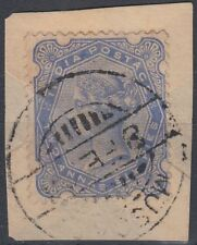India used in Muscat Oman, 2a6p ultramarine, SG# Z42 on piece [sr3164]