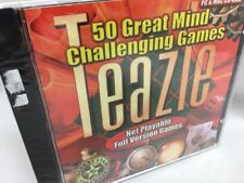 Teazle CD Rom Computer Software Win 95/98 MAC Mind Challenging Games NEW Sealed