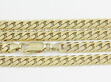 """8-24"""" 5.4mm 10k Yellow Flat Beveled Link Chain,(NEW solid Italian necklace)2393"""