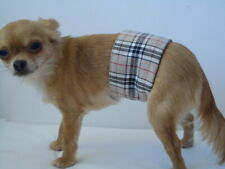 Male Dog Belly Bands Tartan red blue yellow purplr from XXS - XXL dipers nappies