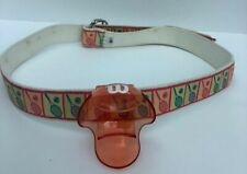 Belt Medium trimmed in pink and green Tennis Rackets -  Plastic Ball Clip Clips
